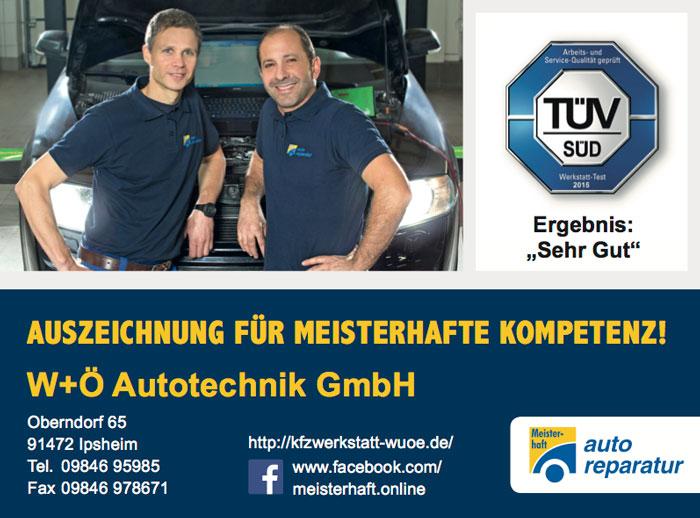 Kfz Werkstatt W&Ö Autotechnik in Oberndorf, Bad Windsheim, Neustadt/Aisch, Ipsheim, Erkersheim, Illesheim
